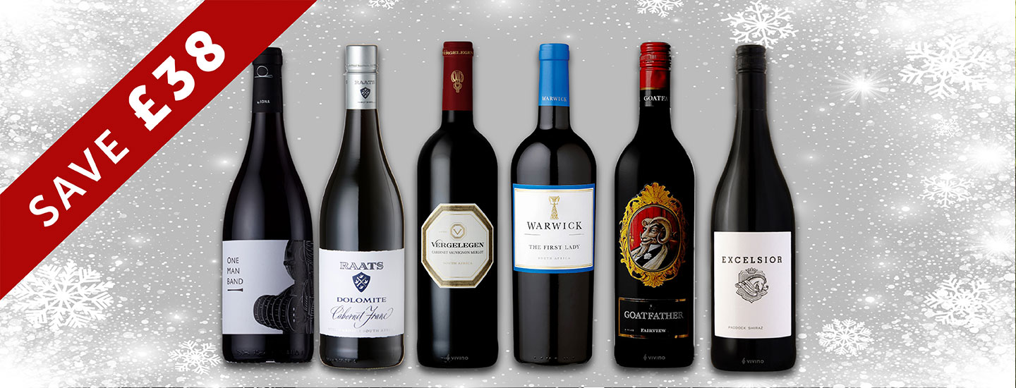 CHRISTMAS WINE CASES FROM THE SOUTH AFRICA HOUSE OF WINE